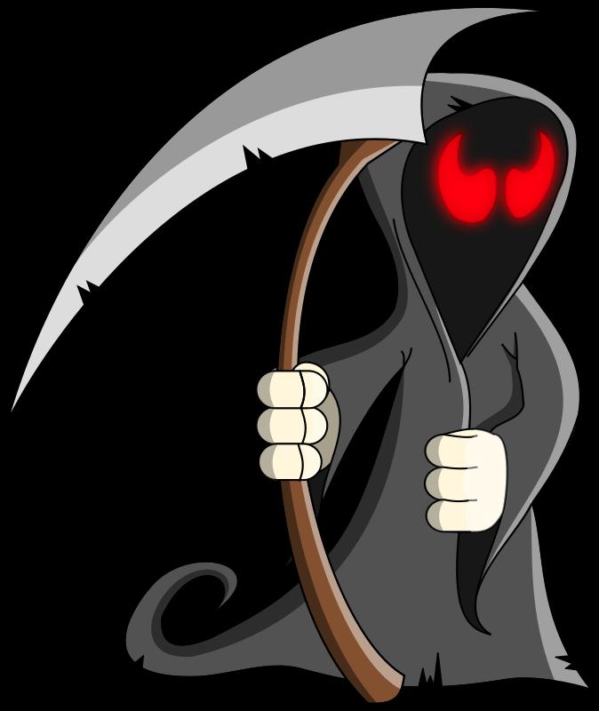 Free Cartoon Grim Reaper Clip Art