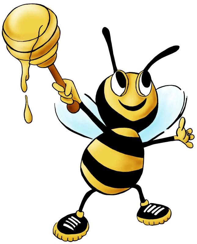 Free Cartoon Honey Bee Clip Art