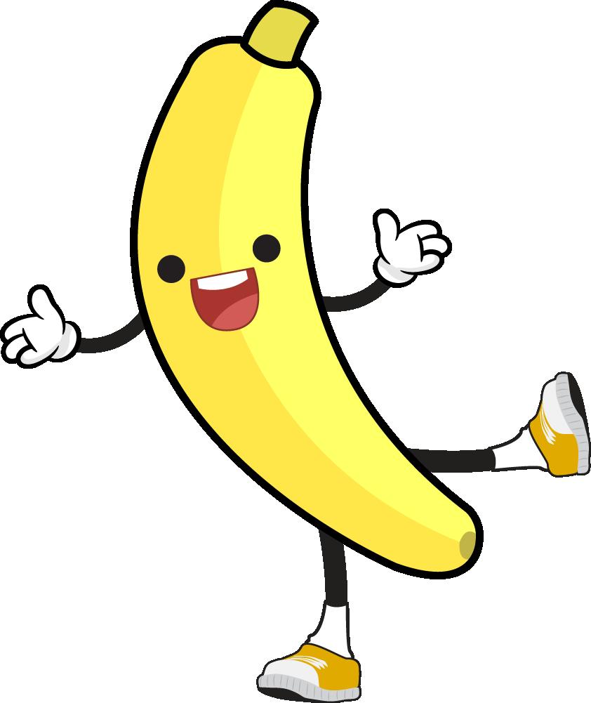 Free Cartoon Jolly Banana Clip Art