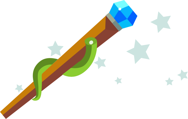 Free Cartoon Magic Wand Clip Art