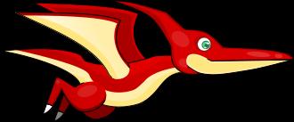 Free Cartoon Pterodactyl Clip Art