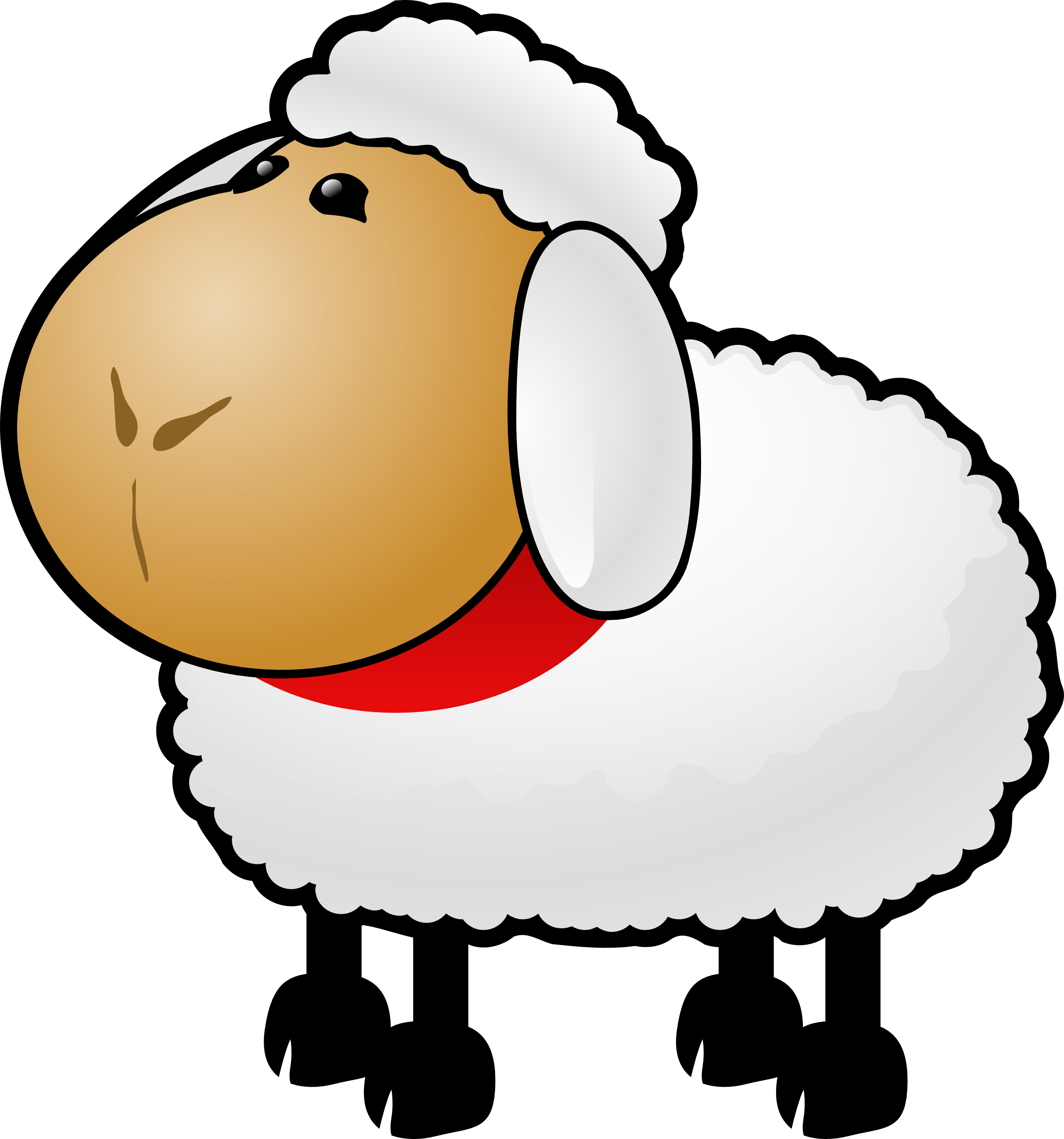Free Cartoon Sheep Clipart Illustration by 000154 .