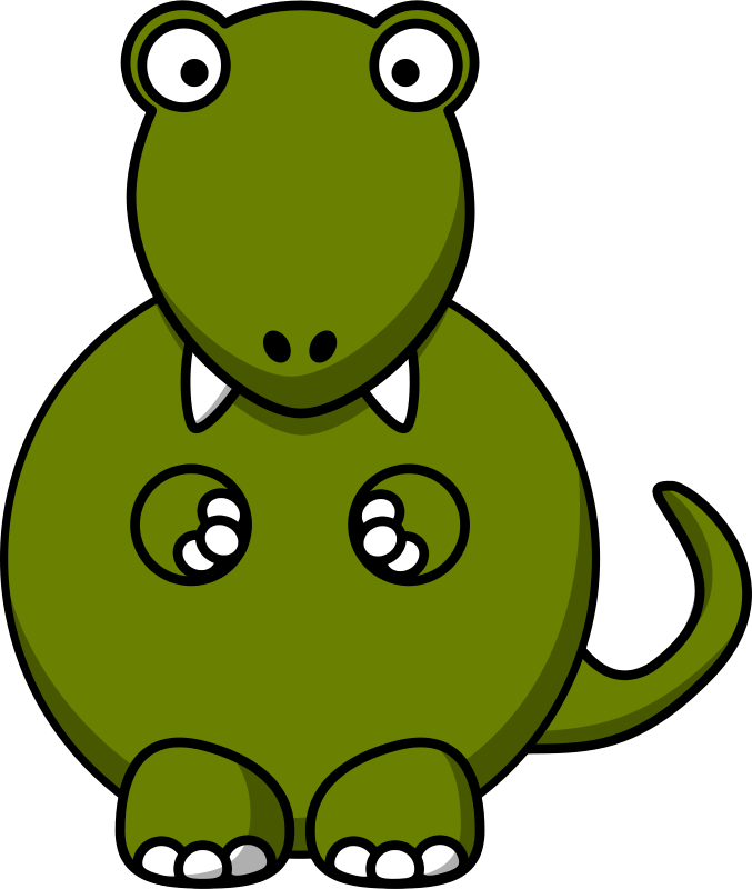 Free Cartoon T-Rex Clip Art