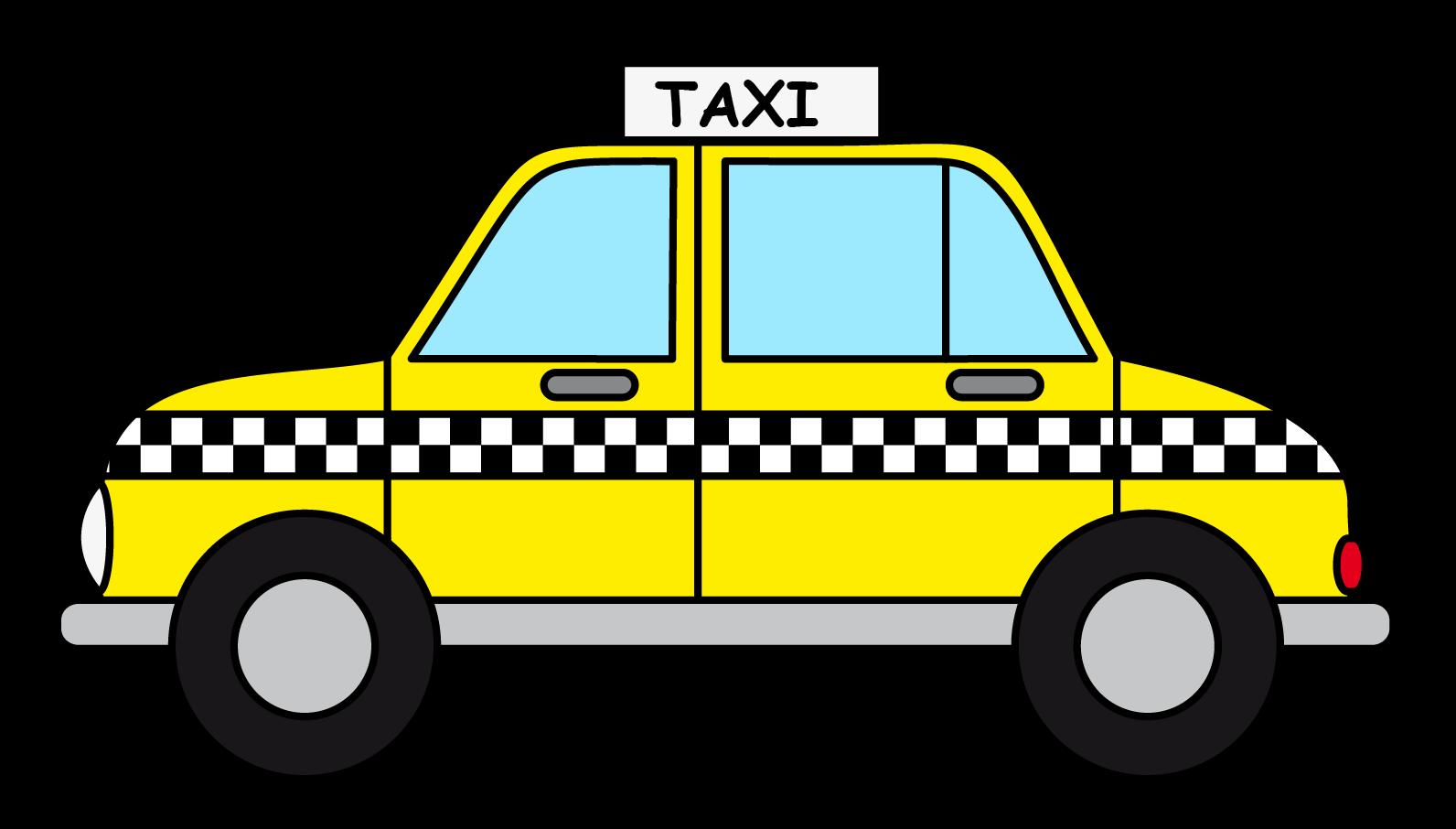 Free Cartoon Taxi Cab Clip Art