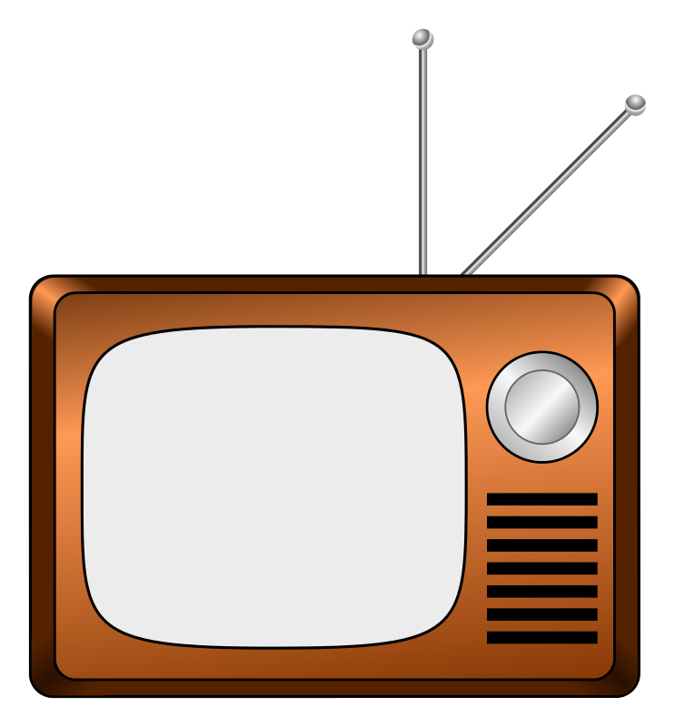 Free Cartoon Vintage Television Clip Art
