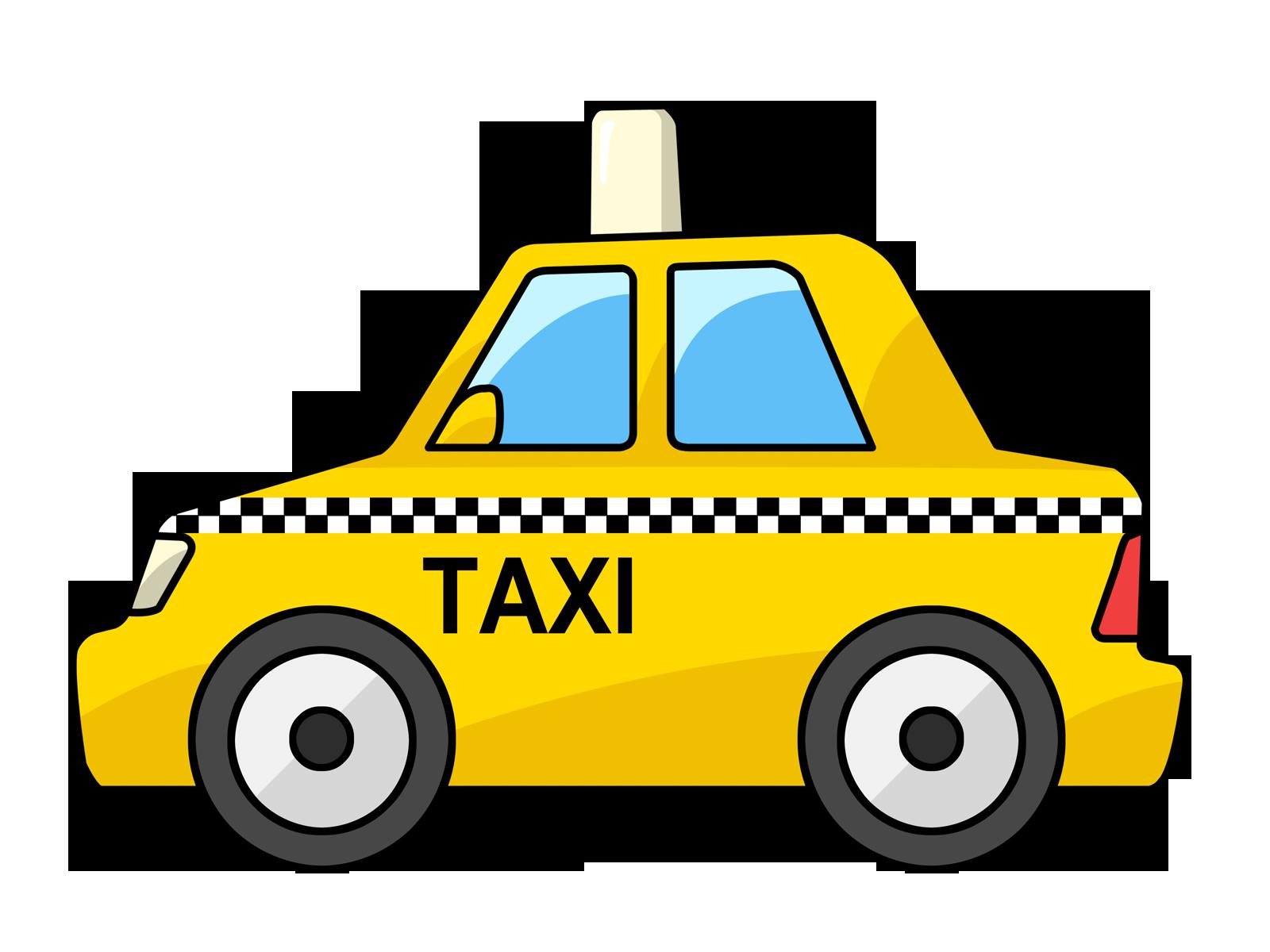Free Cartoon Yellow Taxi Cab Clip Art