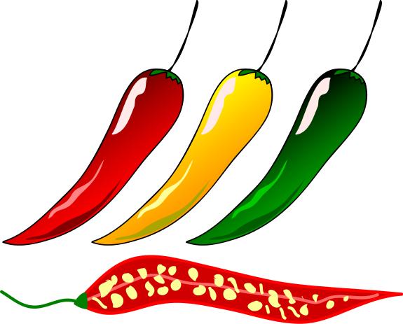 Free chili pepper clipart 1 .
