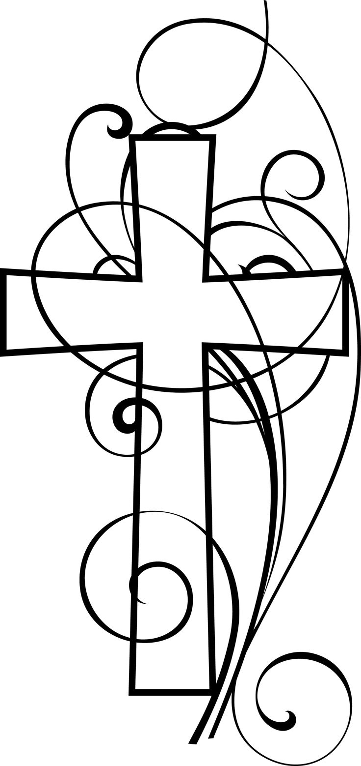 Free christian clip art swirly cross clip art pictures