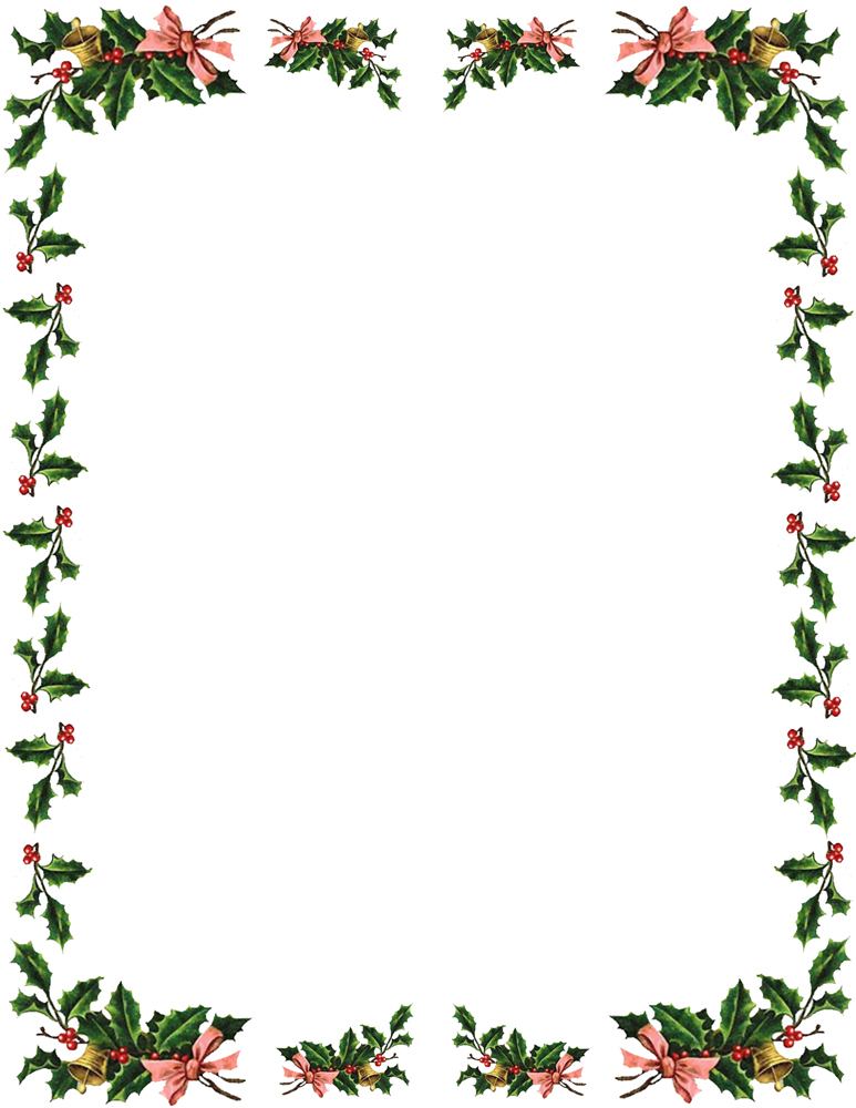 Free Christmas Borders Envelope Size