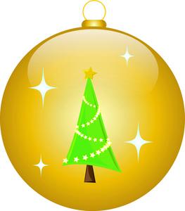 Free Christmas Ornament Clip Art Image