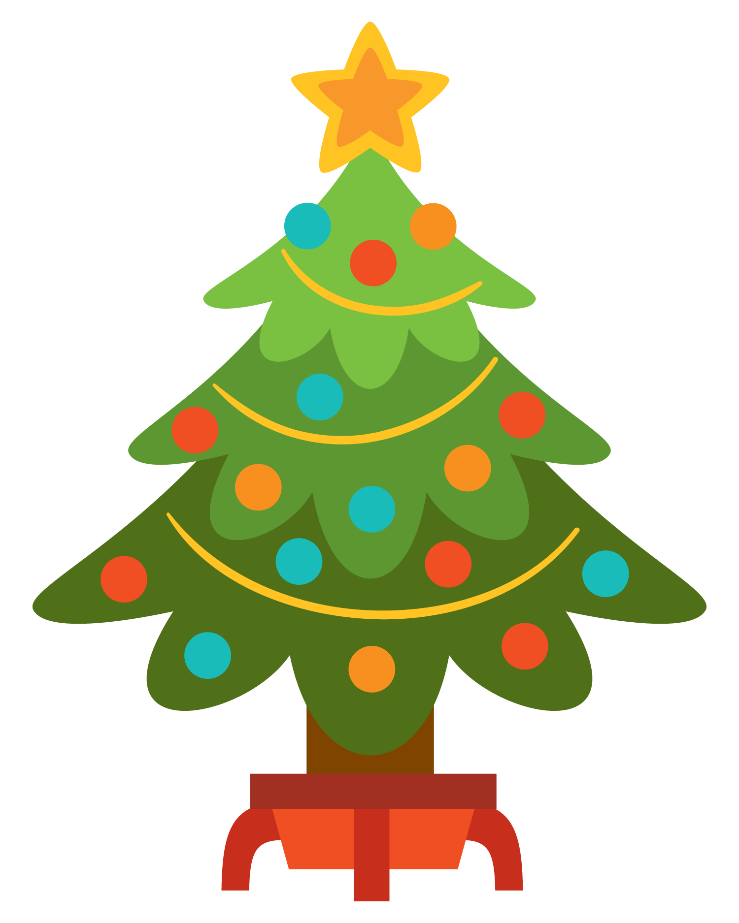 Free christmas tree clip art .