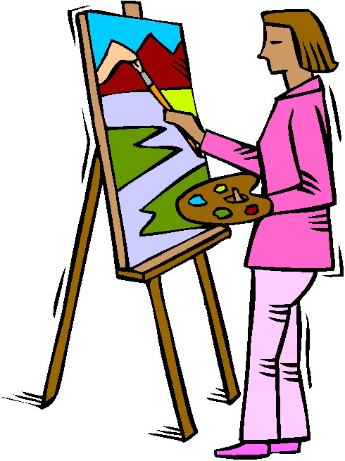 Free clip art artist painting .
