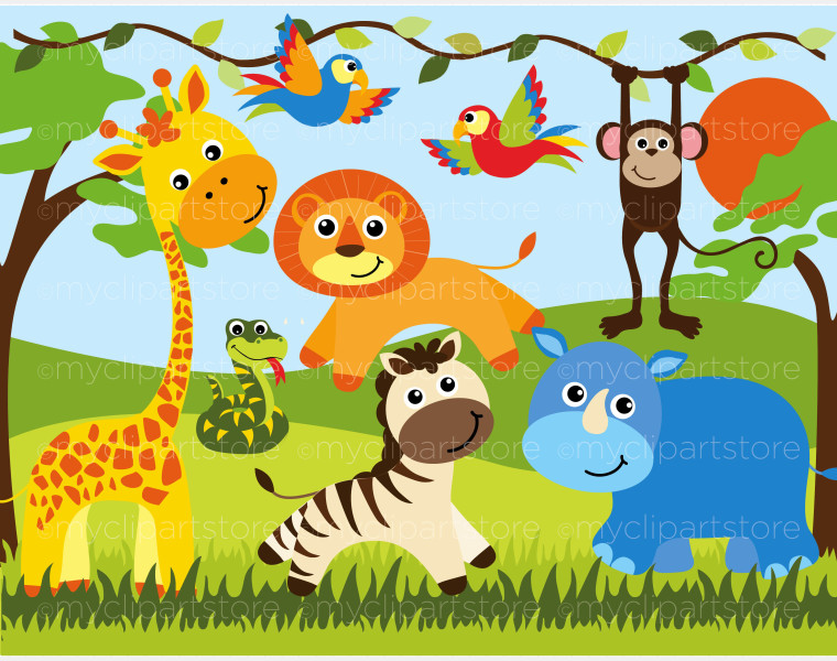 free clip art baby animals .