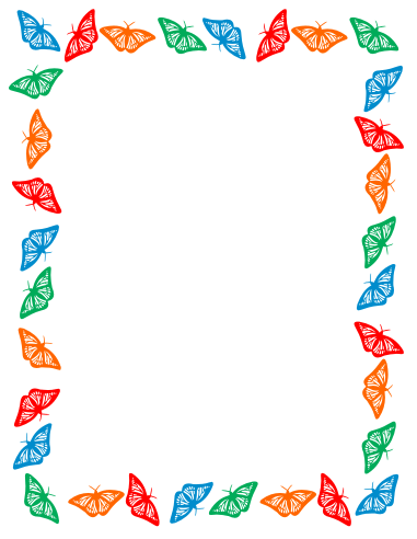 Free Clip Art Butterfly Border Clipart