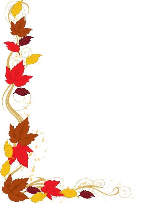 free clip art for teachers | Autumn Leaf Border Clip Art