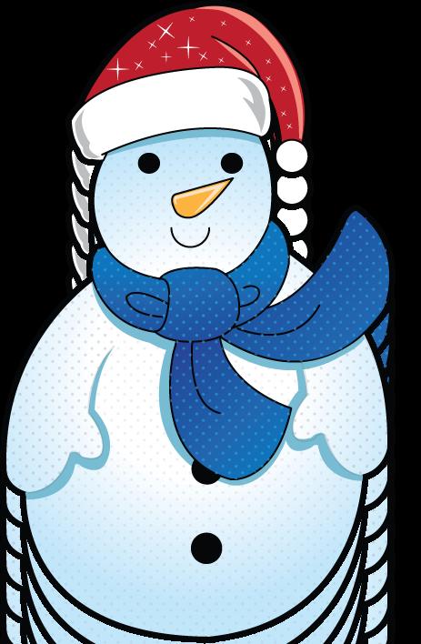 Free Clip-Art: Holiday Clip-Art » Christmas » Mini Frosty the Snowman