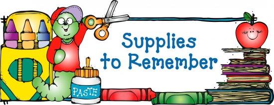 free clip art school supplies. Zaharis Supply List