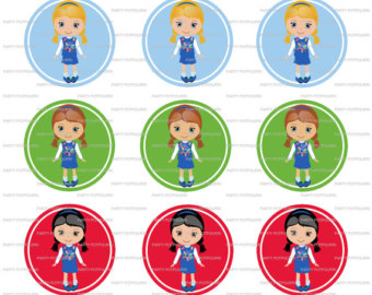 Free Clipart Girl Scout Daisy. INSTANT DOWNLOAD ~ Daisy Girl .