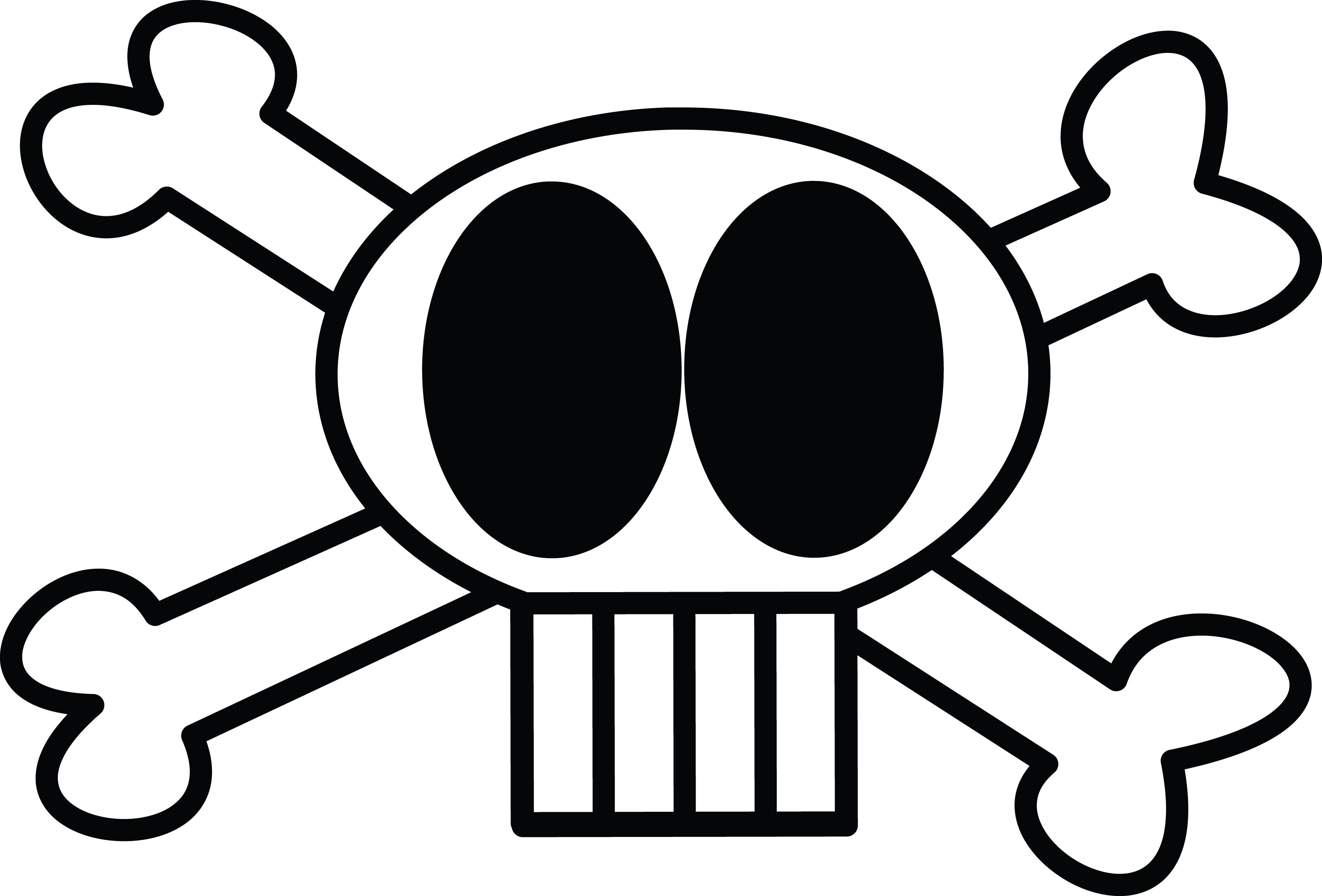 Free Clipart Illustration Of Skull And Crossbones