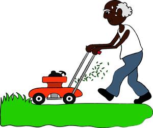 Free Clipart Lawnmower Man Clipartfest