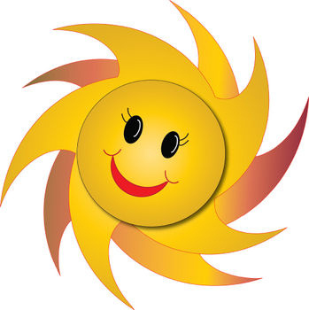 Free Clipart Picture of a Happy Star