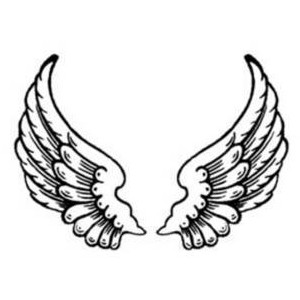 Free Clipart Picture of Feathered Angel Wings
