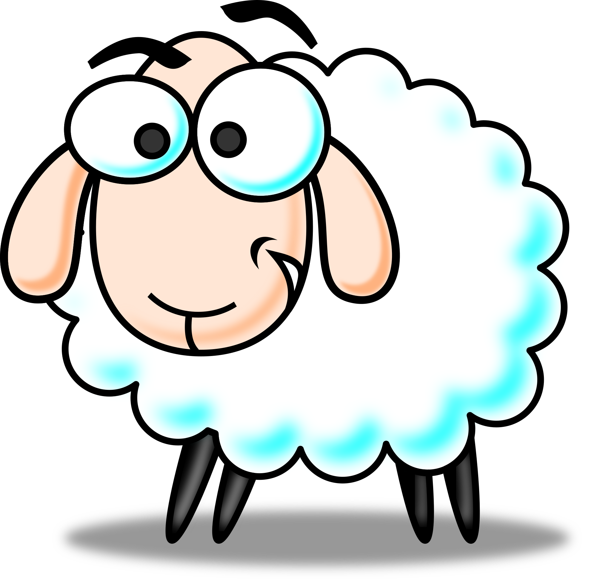 Free colored funny cartoon sheep clipart clipart and vector image