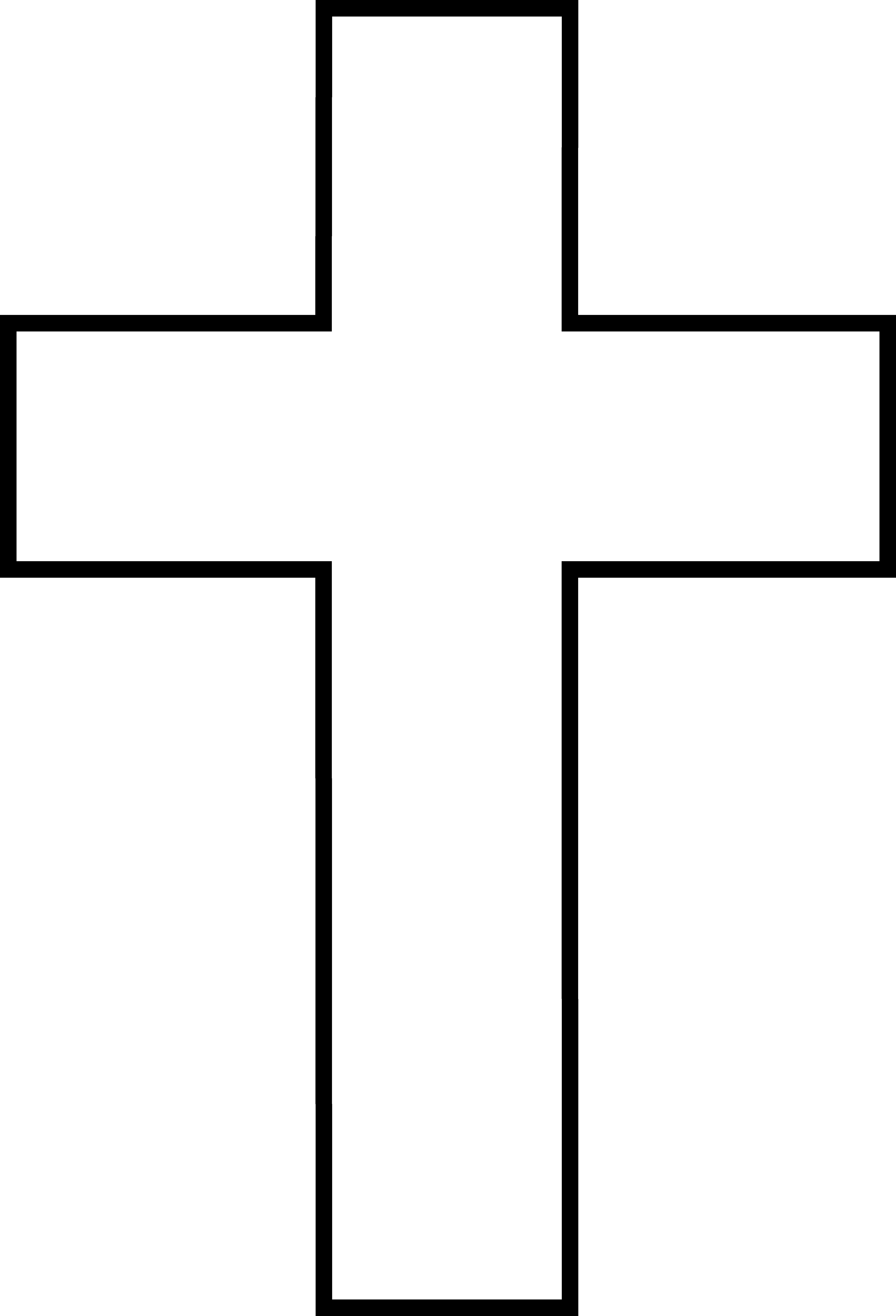 free cross clipart black and .
