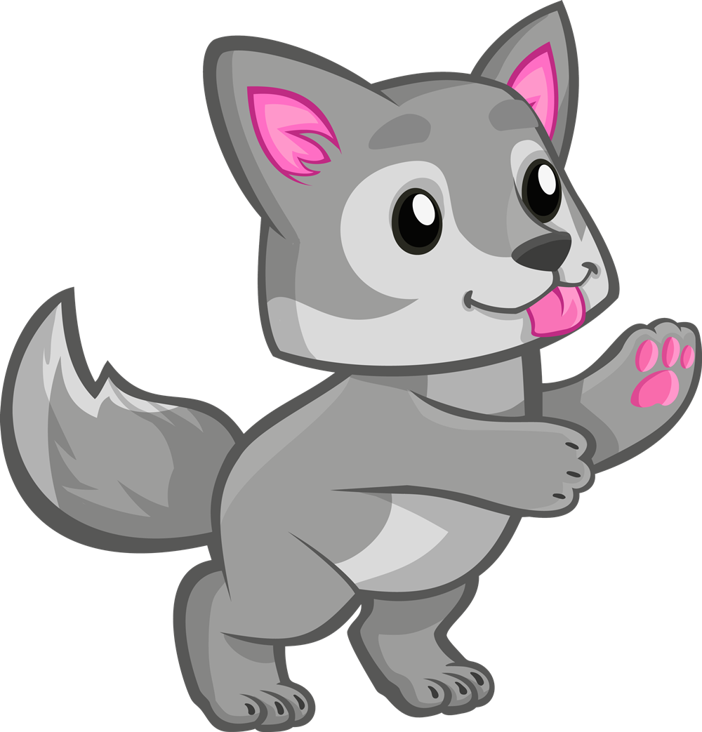 Free Cute Baby Wolf Clip Art