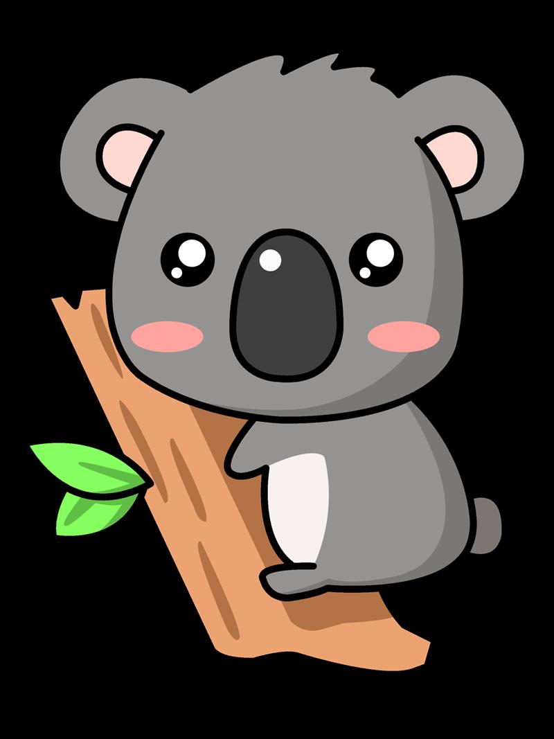Free Cute Cartoon Koala Clip Art