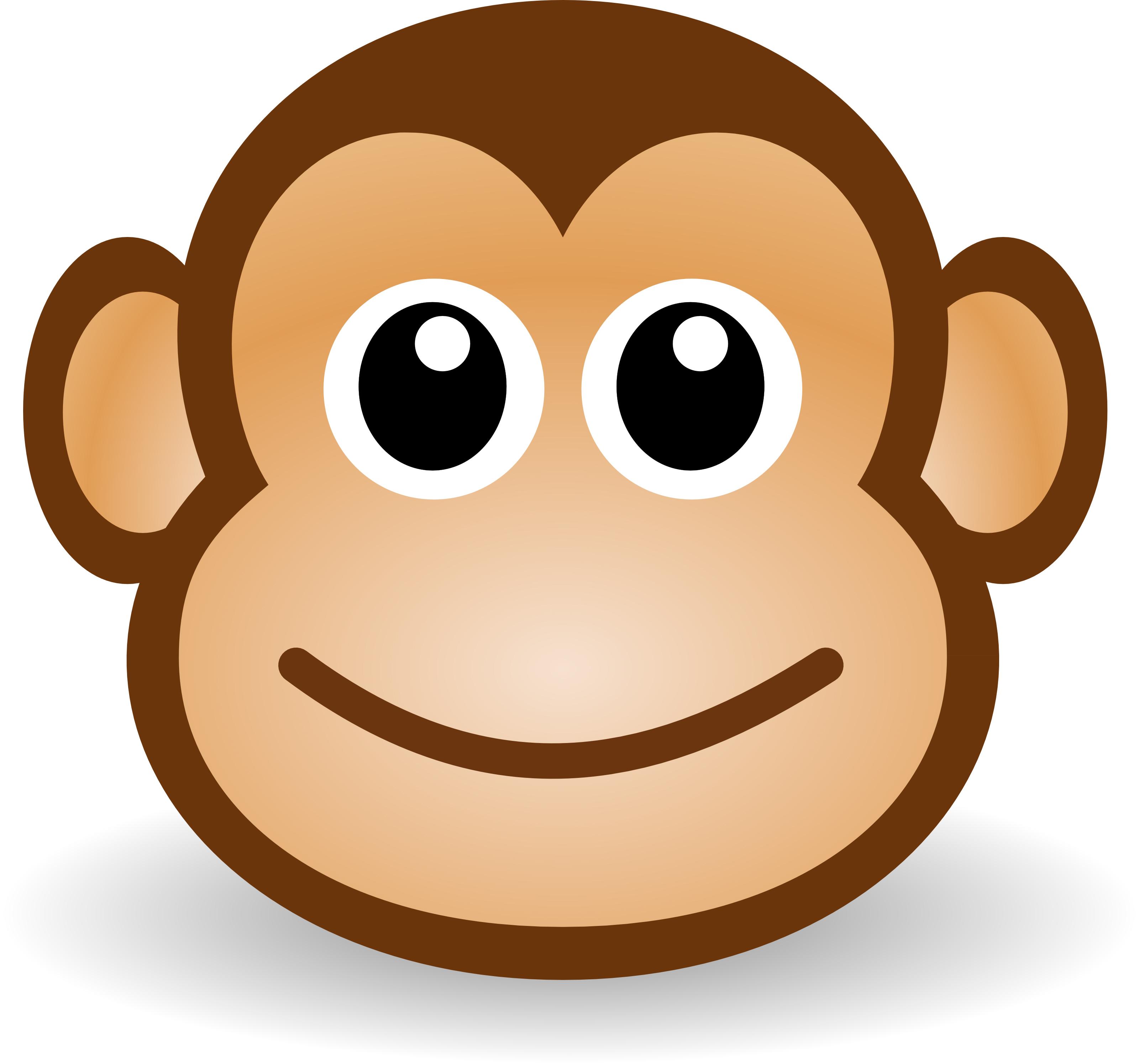 Free Cute Cartoon Monkey Clipart Illustration by 000176 .