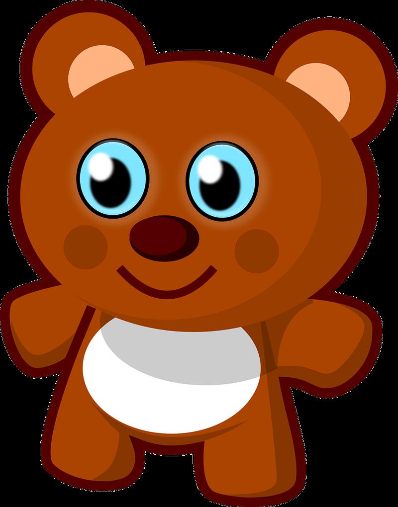 Free Cute Cuddly Teddy Bear Clip Art