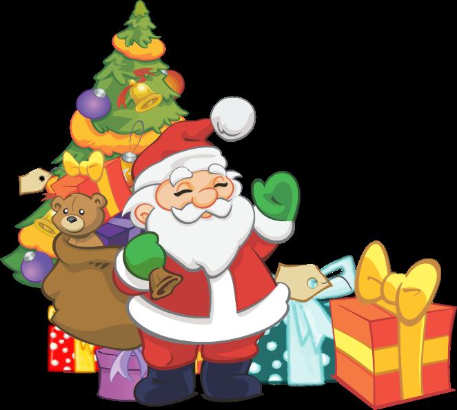 Free Cute Santa Claus Clip Art