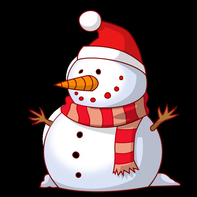 Free Cute Snowman Clip Art