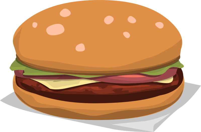 Free Delicious Hamburger Clip Art u0026middot; hamburger12