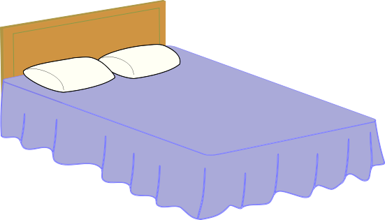 Free Double Bed Clip Art