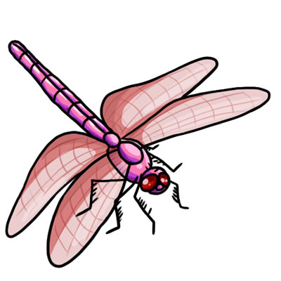 Free Dragonfly Clip Art 21
