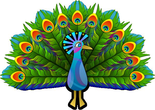 Free Elegant Peacock Clip Art