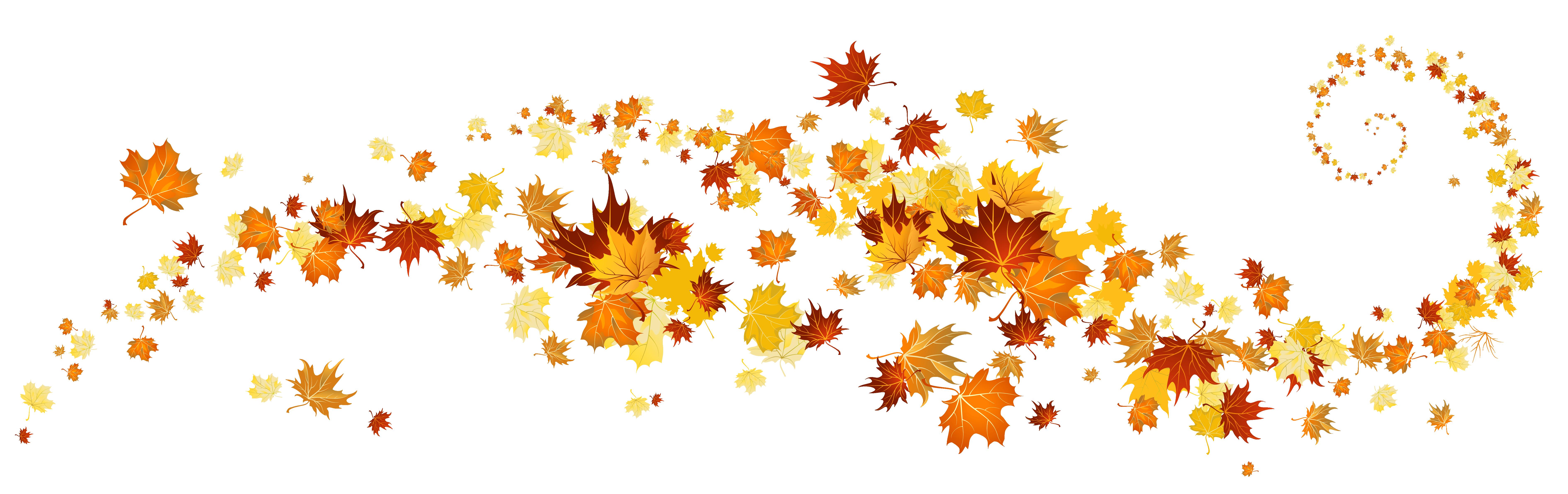 Free Fall Leaves Clip Art - clipartall