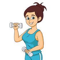 Free fitness and exercise clipart clip art pictures graphics 3