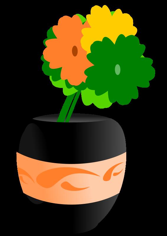 Free Flowers in an Vase Clip Art
