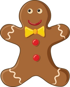 Free gingerbread clip art image gingerbread man cookie