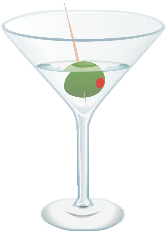 Free Glass of Martini Clip Art