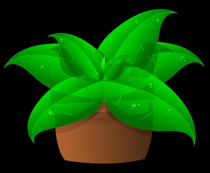 Free Green Plant In Pot Clip Art