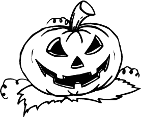 Free Halloween Pumpkins Clipart. Search Terms: black and white ...