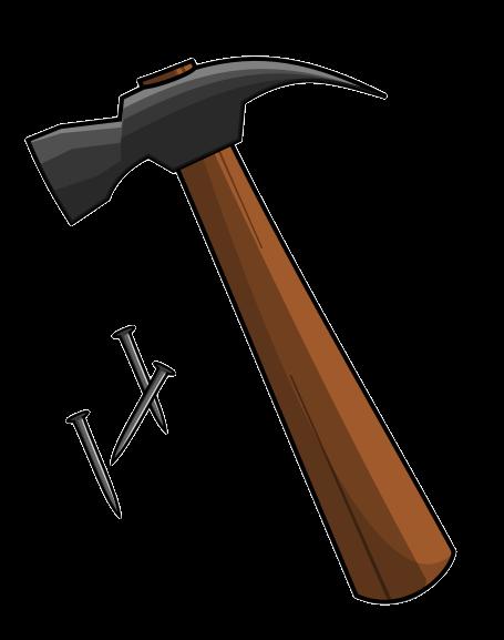 Free Hammer with Nails Clip Art u0026middot; hammer5