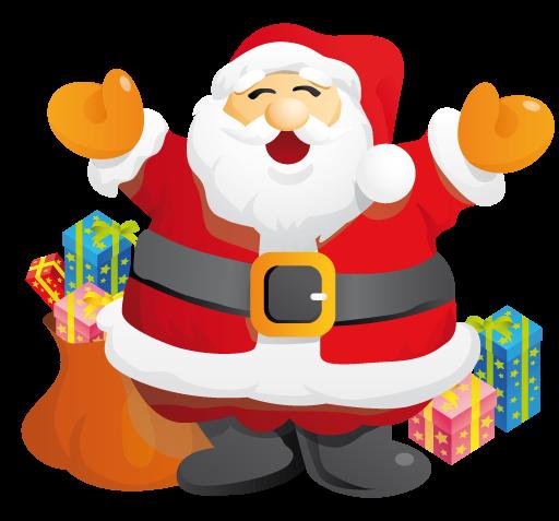 Free Happy Santa Claus Clip Art