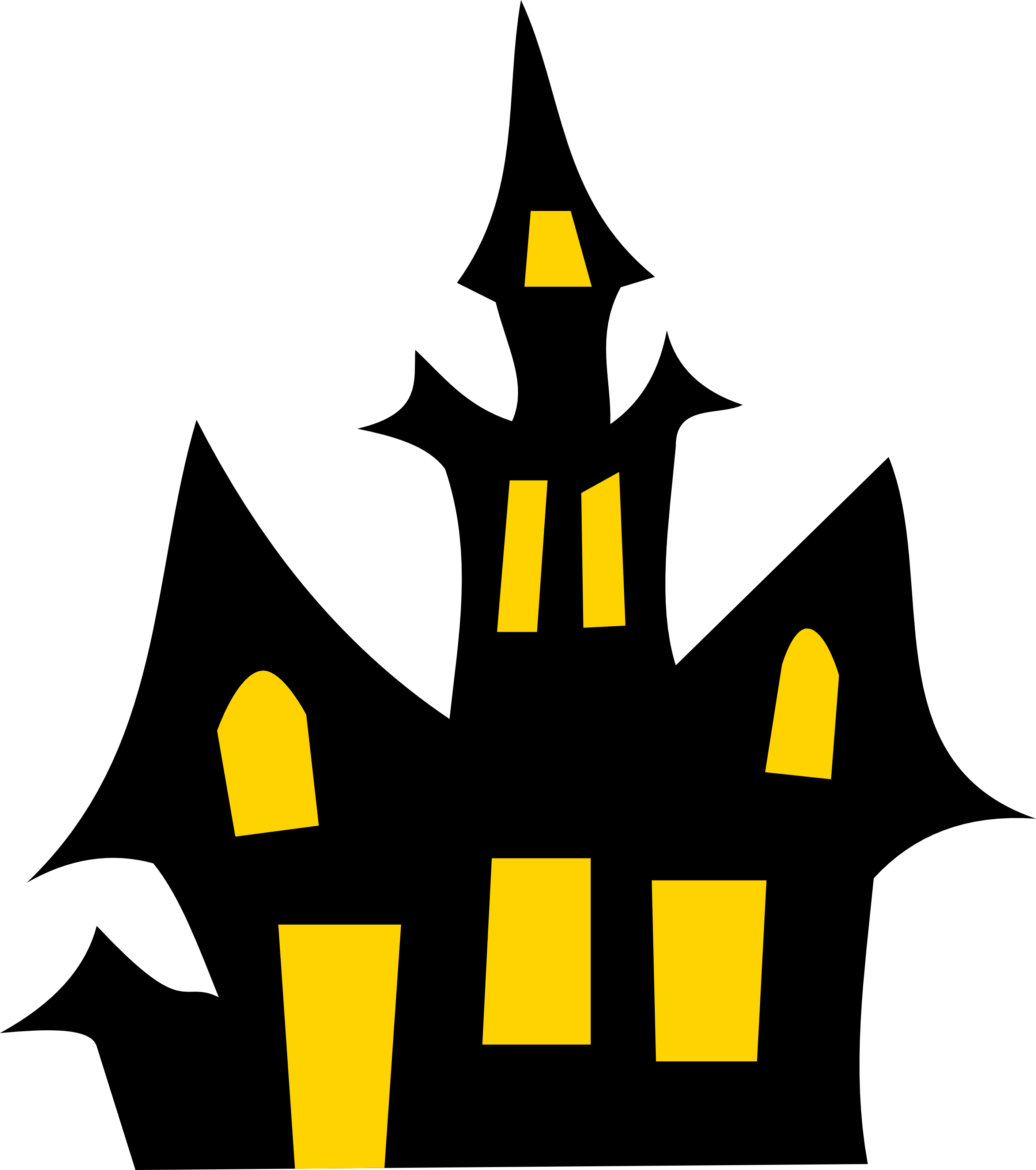 Free Haunted House Halloween Vector Clipart Illustration by 0001110 .