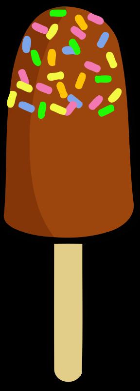 Free Ice Cream on a Stick Clip Art