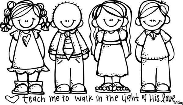 free lds clipart to color for .